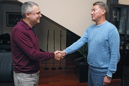Суркис озвучил Блохину основные задачи. Фото www.fcdynamo.kiev.ua
