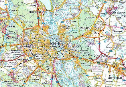 b Карта Киева /b с пригородами. b Карта /b схема.