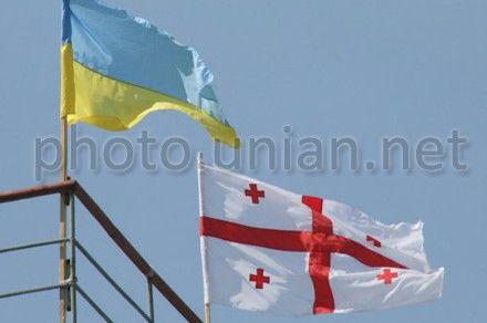 Прапори України та Грузії