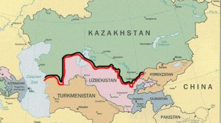 Казахстан, Узбекистан, Туркменістан, Таджикистан, Киргизія