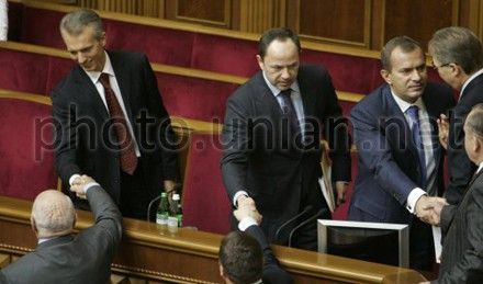 Валерий Хорошковский, Сергей Тигипко и Андрей Клюев
