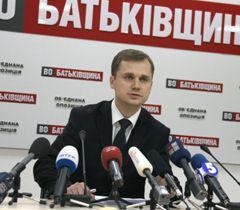 Адвокат Григория Немыри Николай Титаренко во время пресс-конференции в Киеве. 27 декабря