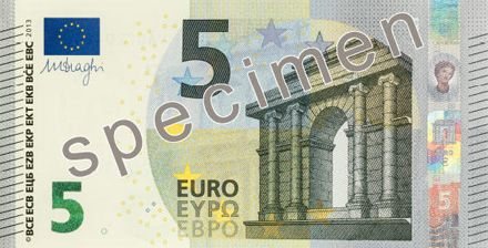 Новая банкнота 5 евро / Изображение с сайта businessinsider