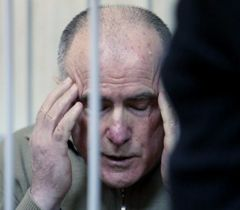 Алексей Пукач во время оглашения приговора по делу об убийстве журналиста Георгия Гонгадзе. Киев, 29 января