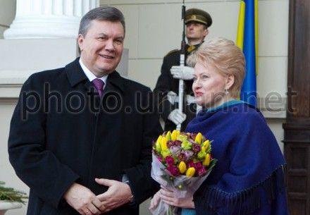 Виктор Янукович и Даля Грибаускайте