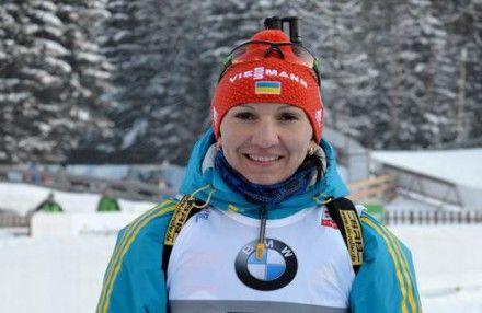 Елена Пидгрушная взяла бронзу / Фото :  biathlon.com.ua