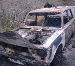 Машина, з якої ймовірно стріляв убивця селищного голови Сімеїза Кирила Костенка