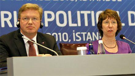 Фюле и Эштон сообщили о завершении переговоров / Фото: Kosovain.eu