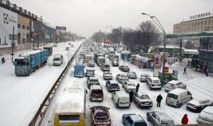 киев снег
