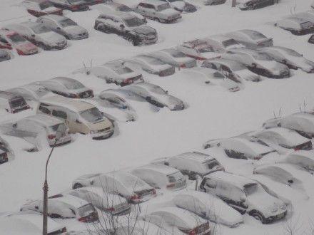 Машины ждут оттепели
