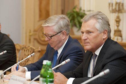 Кокс и Квасьневский уже готовят доклад / Фото: Официальный сайт ВРУ