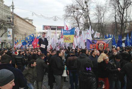 Протестное шествие r Верховнjq Радt / Фото с Facebook Андрея Парубия
