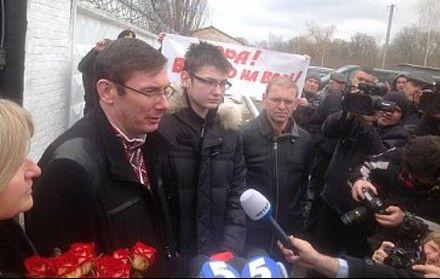 """Луценко пошутил, что для руководства колонии сегодня действительно благая весть, у них произошло """"освобождение от него"""