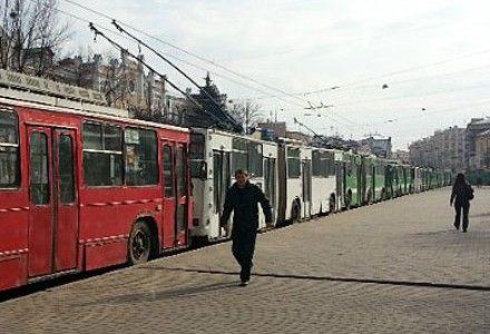 В центре Харькова остановились троллейбусы и трамваи / Фото: Главное