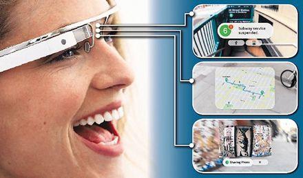 очки дополнительной реальности компании Google