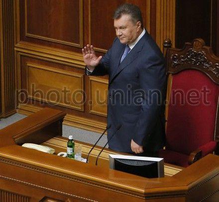 Янукович в Раде
