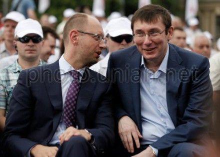 Арсений Яценюк и Юрий Луценко договорились о кампании
