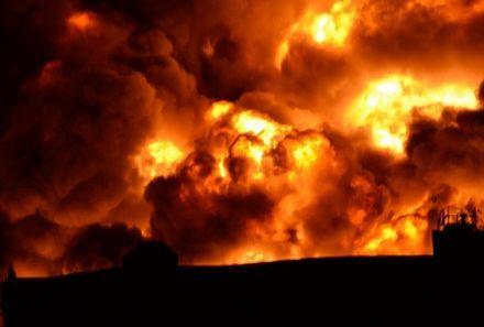 Пожар, взрыв. Фото: ТСН