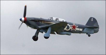 Демонстрационный полет советского истребителя Як-3