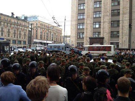 Столкновения на Манежной площади / Фото з Facebook