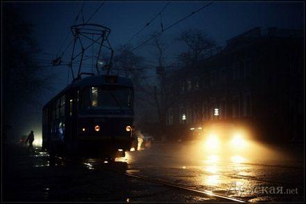 нічний трамвай / фото з сайту Думская