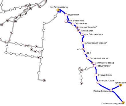 маршрут троллейбуса № 11 во