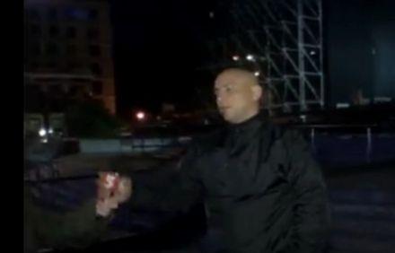 Охоронців уже допитують / Скриншот відео 5 канал