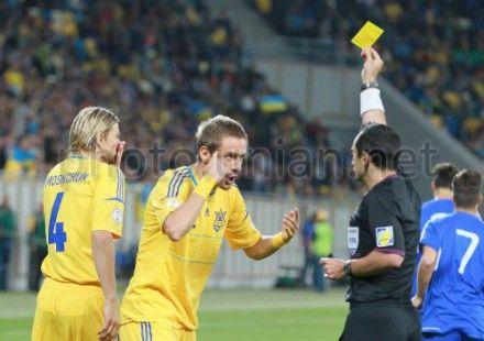 Україна-Сан-Марино - 9:0, Девіч отримує жовту картку