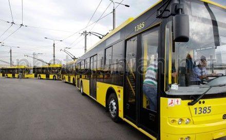 В Киеве общественный транспорт