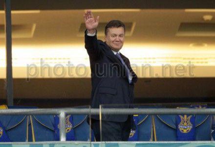 Украина-Англия. Президент Виктор Янукович