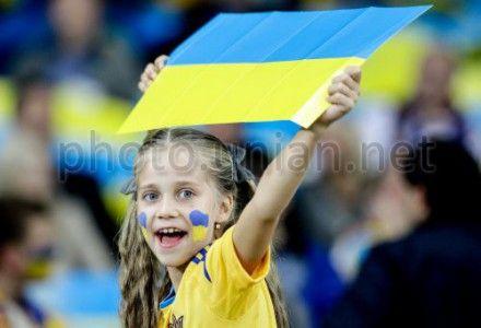 Украина-Англия. Болельщица
