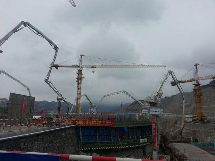 Заливка первого бетона в фундамент 3-го энергоблока АЭС «Тяньвань» в Китае, фото Росатома
