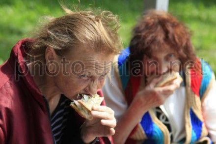 Бездомные во время празднования альтернативного Дня Киева