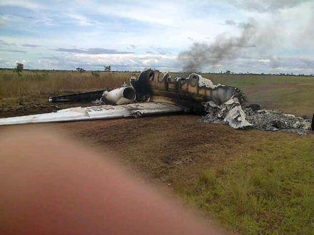 Мексиканский самолет, сбитый самолет / Фото : @vladimirpadrino