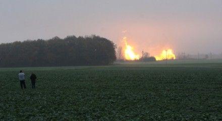 Взрыв газопровода в Польше/ Фото: tvn24.pl