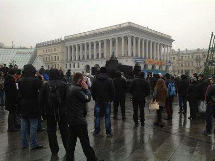 Евромайдан утром / Фото: Пресс-служба Батькивщины