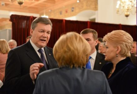 Янукович, Грибаускайте / Фото : R.Dackaus / ru.delfi.lt