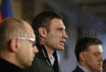 Яценюк, Кличко, Тягнибок