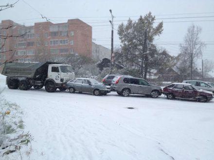 Гололед в Киеве привел к множеству аварий, фото first-gear.in.ua