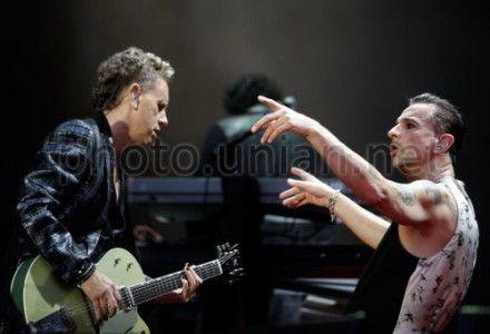 Гітарист Depeche Mode Мартін Гор (ліворуч)