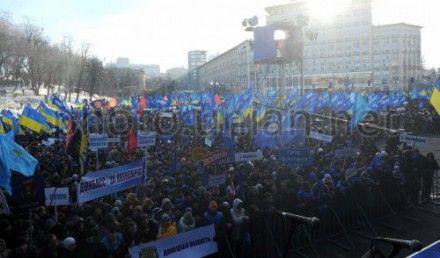 Митинг Партии регионов, по подсчетам МВД, собрал 60 тысяч человек