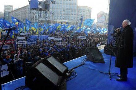 Оппозиция опровергла заявления Азарова на Антимайдане