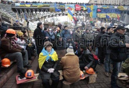 Участники Евромайдана требуют освободить политзаключенных