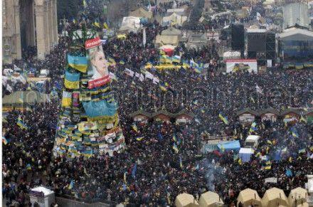С Майдана Незалежности отправляются три колонны митингующих