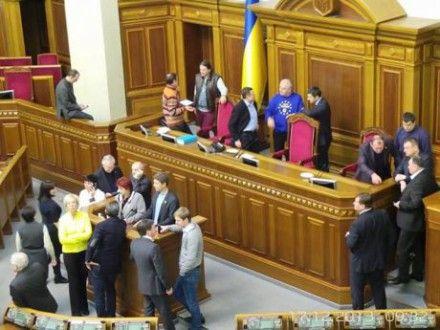 Оппозиция заблокировала Раду / Фото: Дмитрий Ларин
