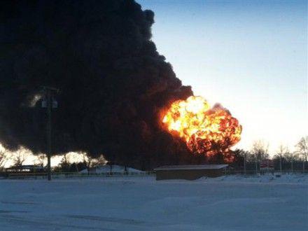 Поїзд вибух сша Фото Tyler Spriggs via KVLY