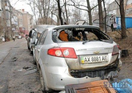 Сгоревший Chevrolet Lacetti, принадлежавший активистке Евромайдана