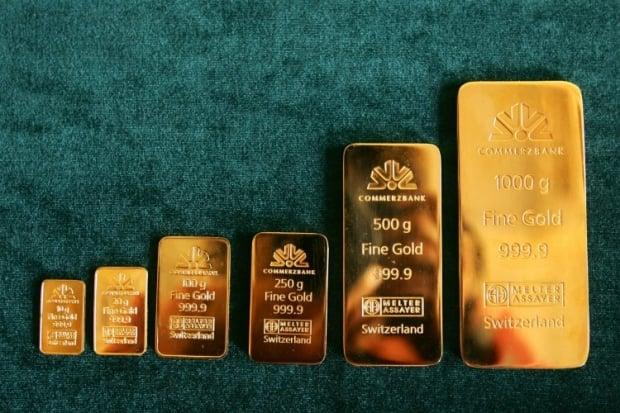 Слитки чистого золота 999,9 пробы