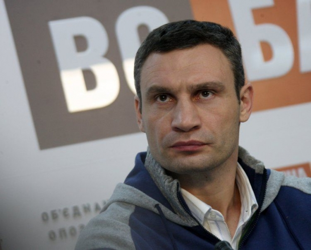 Leader of the UDAR party Vitaliy Klitschko