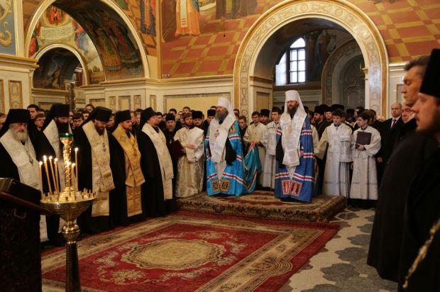 Молебен за Украину в Киево-Печерской лавре, 22 января